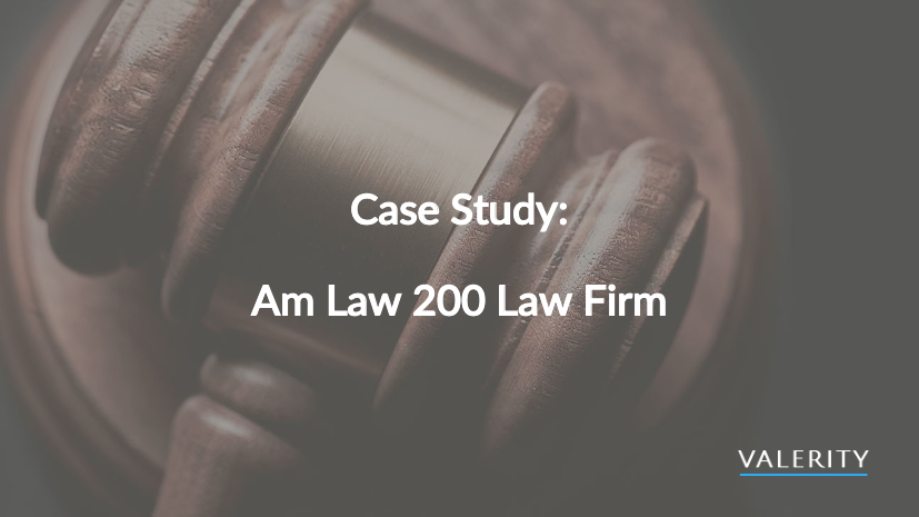 Valerity Legal Case Study